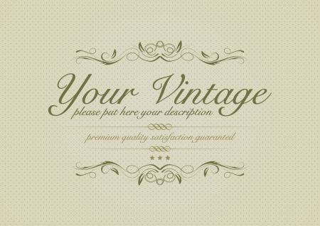 Vintage background with ornaments Vector
