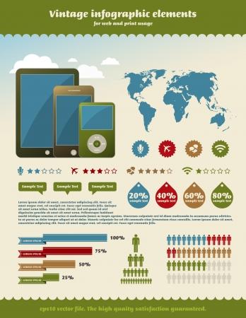 Vintage infographics element Illustration