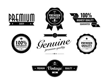 special vintage sticker vith premium quality text Illustration