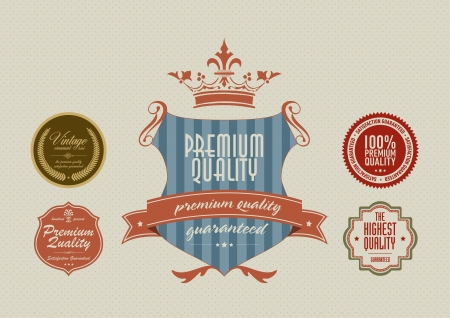 Vintage styled label stickers Vector