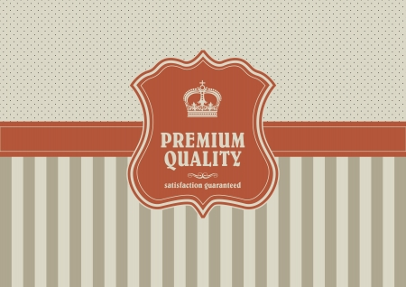 vintage background with shield element Vector