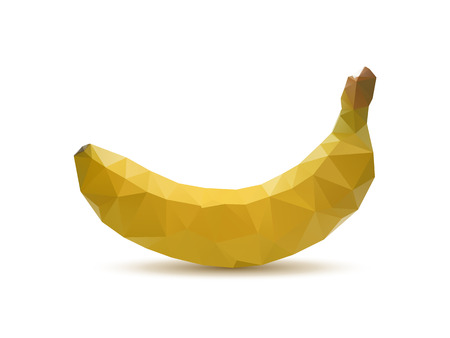 Abstract banana with triangle style