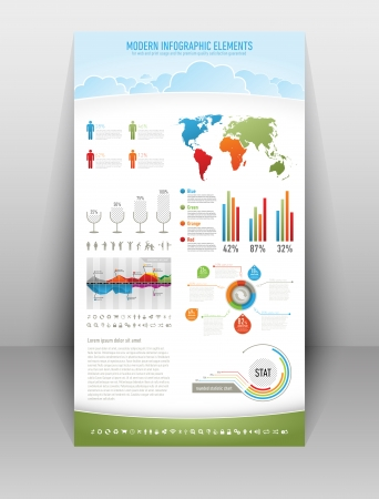 modern nature infographic elements for web and print usage