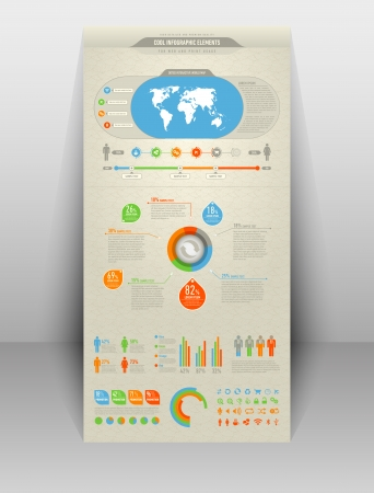 cool and high detailed infographic elements Illustration