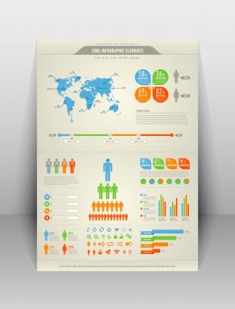 modern infographic elements Illustration