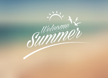 Welcome Summer, creative graphic message for your summer design