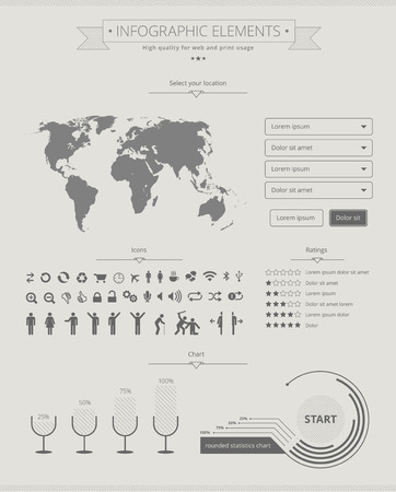 Flat, high quality infographic elements