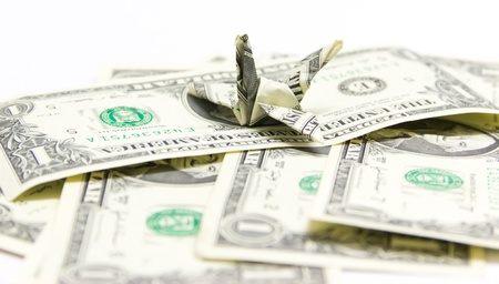 MONEY FLY Stock Photo