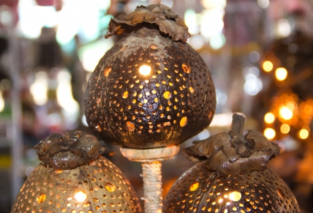 LAMP FROM COCONUT SHELL