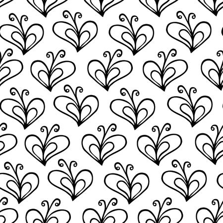 butterfly and heart seamless pattern. Love background