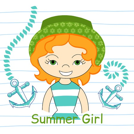 woman underwater: beautiful girl with sea, T-shirt design vector illustration Illustration