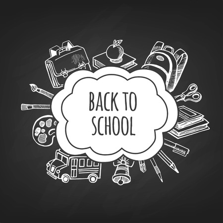 semester: Back to school tools sketch frame