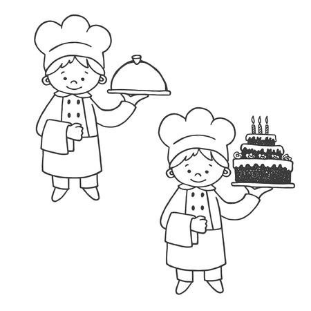 confectioner: Kitchen and confectioner vector illustration.  Kitchen