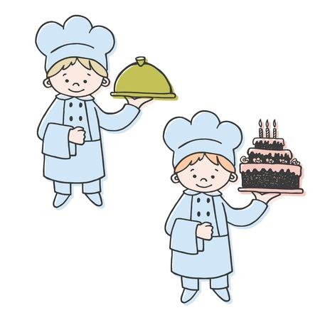 confectioner: Kitchen and confectioner color vector illustration. Kitchen Illustration