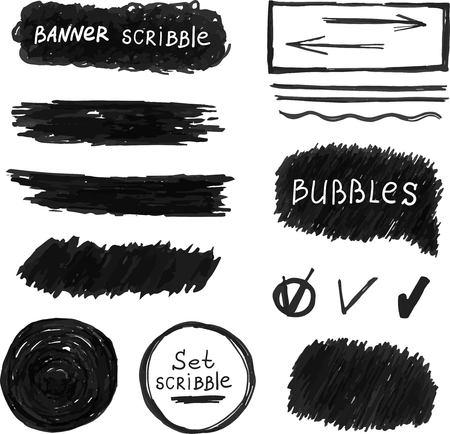scribble: Hand drawn scribble vector design element. scribble