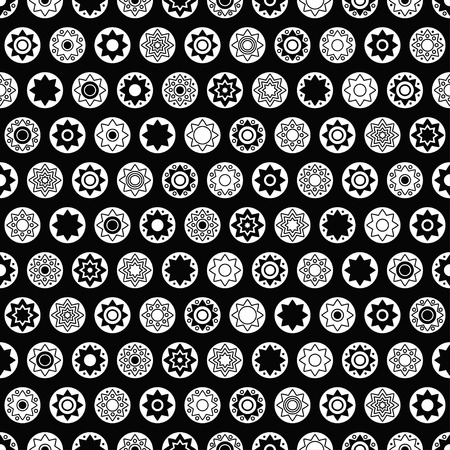 star background: Black star vector seamless pattern. Star background