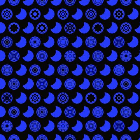 star background: Dark star seamless vector pattern. Star background
