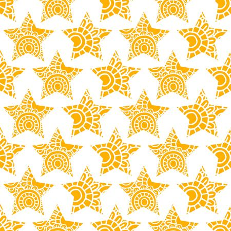 star pattern: Yellow star vector seamless pattern.  Star background Illustration