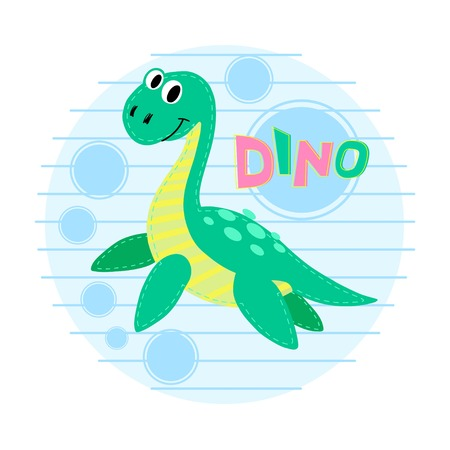 loch: Water dinosaur illustration. Dinosaur background