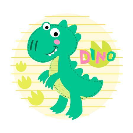 rex: Dinosaur Rex illustration. Dinosaur background