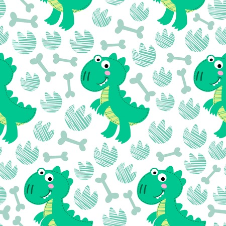 rex: Dinosaur Rex seamless pattern.  Dinosaur background