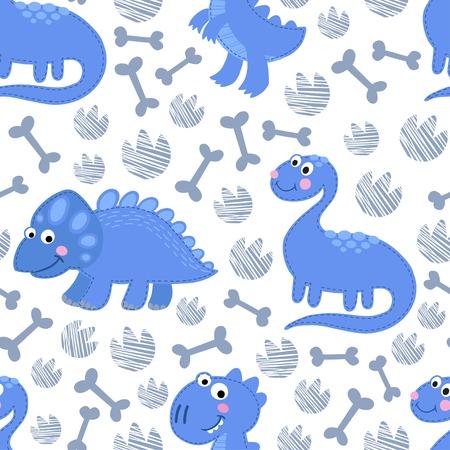rex: Dinosaur Rex seamless pattern. Dinosaur boy design
