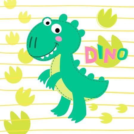rex: Dinosaur Rex on striped background