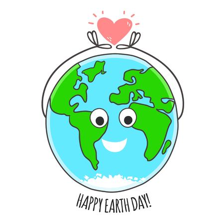 environment geography: Happy Earth day vector card. Earth day background.