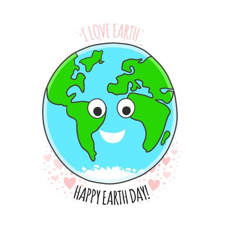 earth day: Earth day vector card. Earth day background.