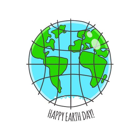 earth day: Happy Earth day vector card. Earth day background.