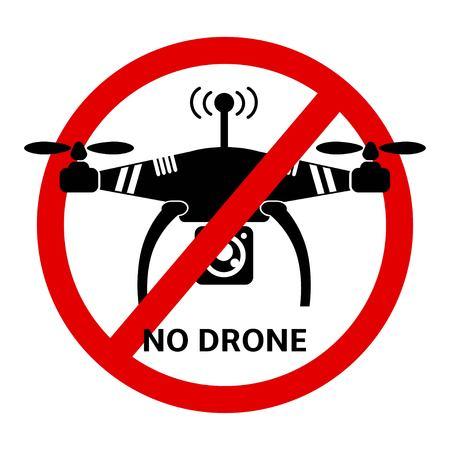 jpeg: No Drone black and white icon Quadrocopter illustration. Drone flat graphic. Drone Icon , drone Icon JPEG. Drone illustration. Illustration