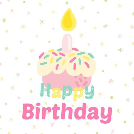 birthday celebration: Birthday celebration cupcake icons