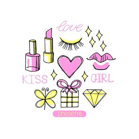 Fashion circle design vector isolated on white background. Beauty  background Illustration