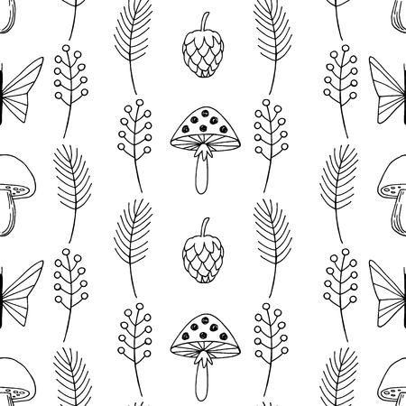 Forest vector seamless pattern.