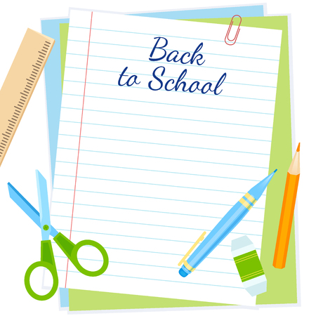 Back to school frame vector design. Back to school