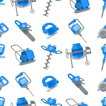 Nahtloses Muster des Bauwerkzeugvektors. Gebäudeausrüstung.