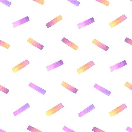 confetti hand painted watercolor seamless pattern. 스톡 콘텐츠