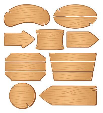 Planches en bois pour bannières ou messages.