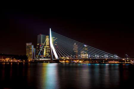 Erasmus Bridge, The Netherlands Banco de Imagens