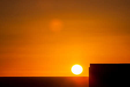 Sunset on Rooftop Фото со стока