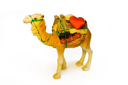 Stone figure of the camel transporting heart Stock Photo