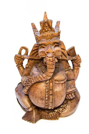Wooden figurine of the Indian deity Ganesh
