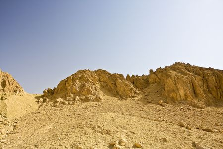 critical conditions: Mountains against the blue sky Stock Photo