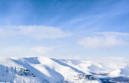 Mountain landscape with the blue sky  Stock Photo