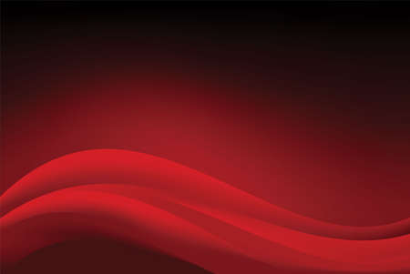 Abstract Smooth Red Wavy Background Design Template Vector, Professional Elegant Flowing Dark Red Mesh Gradient Element with Copy Space for Text
