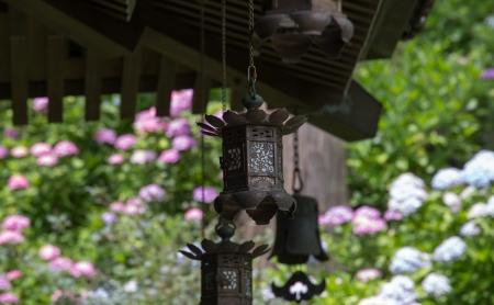 일본의 사원의 등불 바구니 스톡 콘텐츠