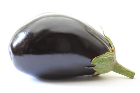 egg plant: Egg plant in a white background Stock Photo