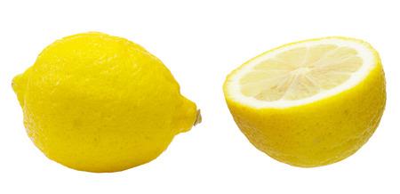 ritagliare: Tagliare immagine di limone Archivio Fotografico