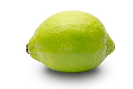 緑のレモン 写真素材