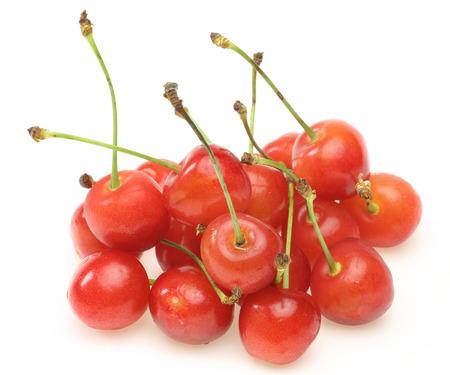 Cherries in a white background 版權商用圖片